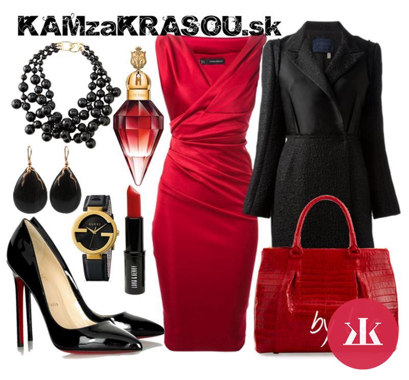 e4cf2e36f21e Sexi obtiahnuté červené večerné šaty - KAMzaKRASOU.sk