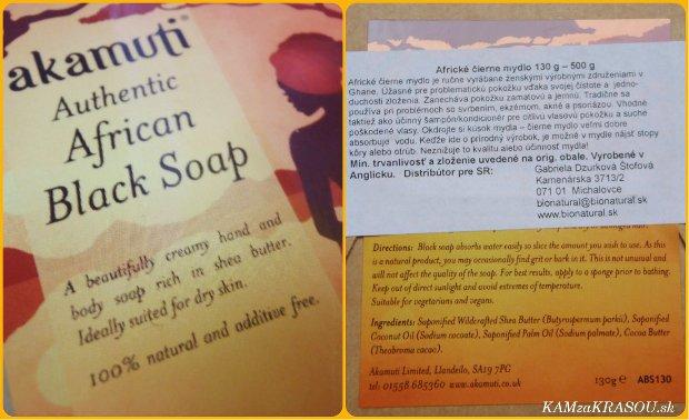 Akamuti Africké čierne mydlo