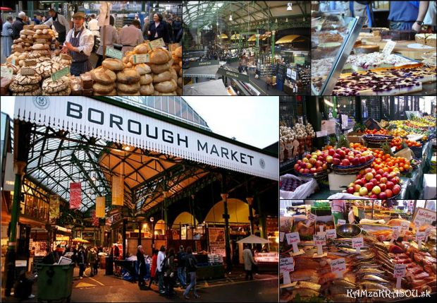 Trh potravín. tak takéto prívlastky nesie borough market v londýne
