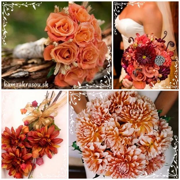 Svadobné kytice s nádychom jesene