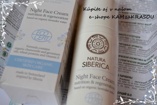Nočný pleťový krém - Natura Siberica