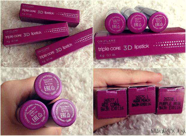 Oriflame Rúž na pery Triple Core 3D