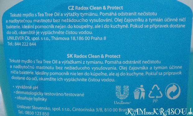 Radox - tekuté mydlo Clean & Protect