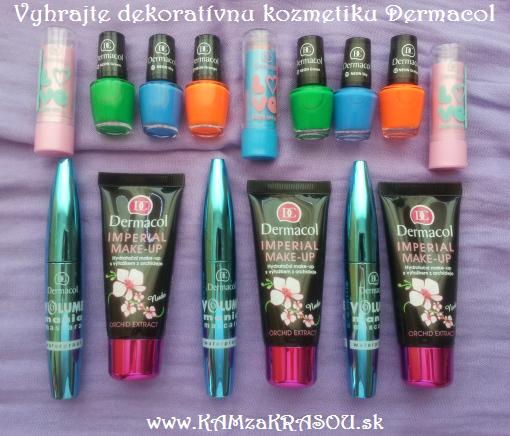 Tri balíčky dekoratívnej kozmetiky Dermacol