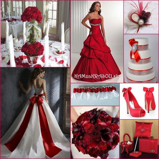 Červená - nádherná svadobná farba