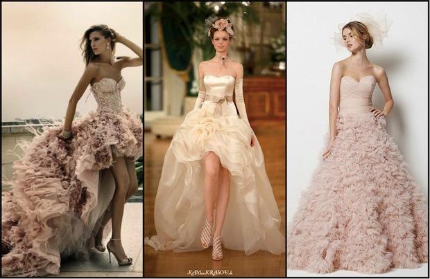 Svadobné šaty púdrovej farby - KAMzaKRASOU.sk acb021df71f