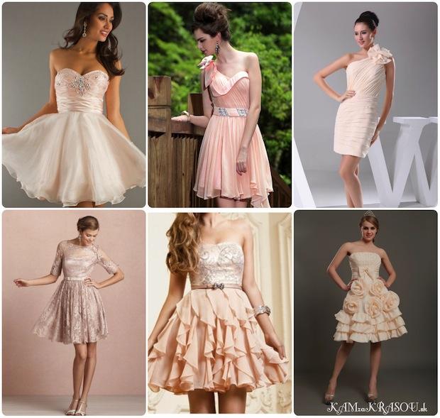 Svadobné šaty púdrovej farby