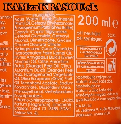 Ziaja pomarančové maslo
