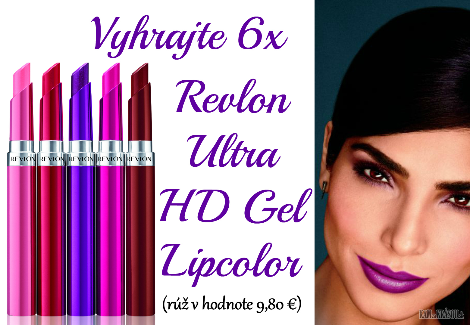 Vyhrajte 6x Revlon Ultra HD Gel Lipcolor