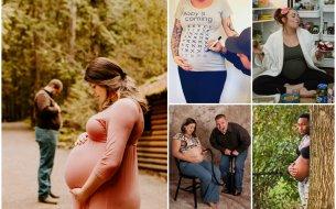Vtipné fotky v tehotenstve: Kde len na tie nápady chodia!
