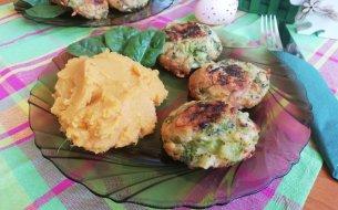 Menu nielen na Zelený štvrtok: Brokolicové fašírky s batatovým pyré
