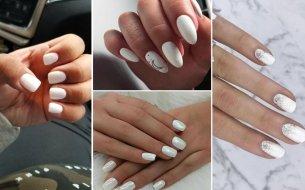 Zasnežená manikúra: Presvedč sa, že aj biele nechty môžu byť štýlové!