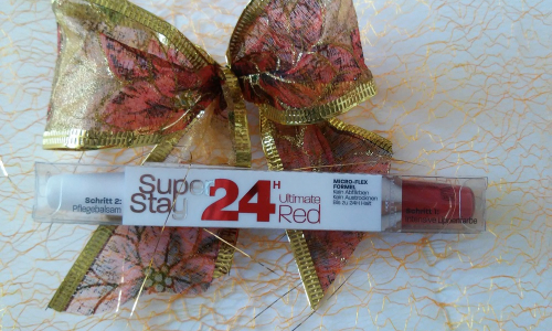 TEST: Maybelline SuperStay 24h Ultimate Red