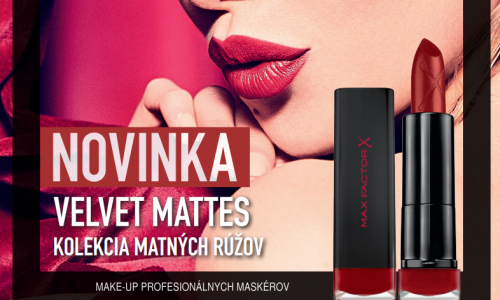 MAX FACTOR UVÁDZA VELVET MATTES LIPSTICK COLLECTION