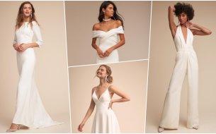 Pôvabné minimalistické svadobné šaty pre nenáročné nevesty? Týmto neodoláš!