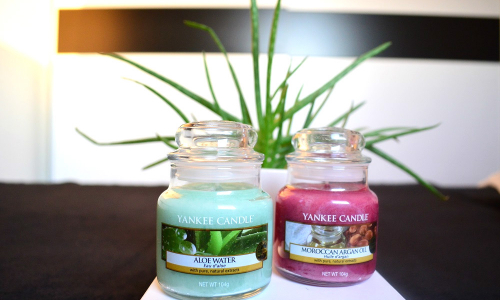 TEST: YANKEE CANDLE novinky Aloe Water a Moroccan Argan Oil