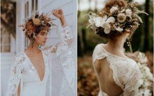 Svadobné účesy s kvetinami pre nevestu – TOP inšpirácie!