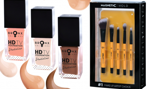 BRONX COLORS Magnetic Urban Brushes set a Studioline HD TV Foundation