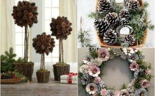 DIY dekorácie zo šišiek: Na jeseň, na Vianoce, ale aj počas celého roka